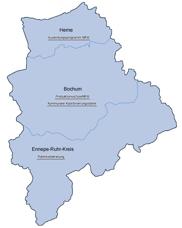 Karte Ruhrgebiet.Esf In Nordrhein Westfalen Gute Praxis In Der Region