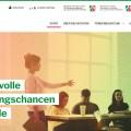 Screenshot der Website www.durchstarten.nrw