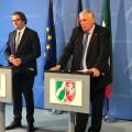 Foto zeigt Minister Laumann bei der Pressekonferenz zum Wohn- und Teilhabegesetz