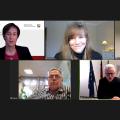 Screenshot der Auftaktveranstaltung mit Moderatorin, BSA-Leitern und Ministerium