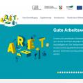 Bildschirmfoto der Internetseite Gute Arbeitswelt in Nordrhein-Westfalen