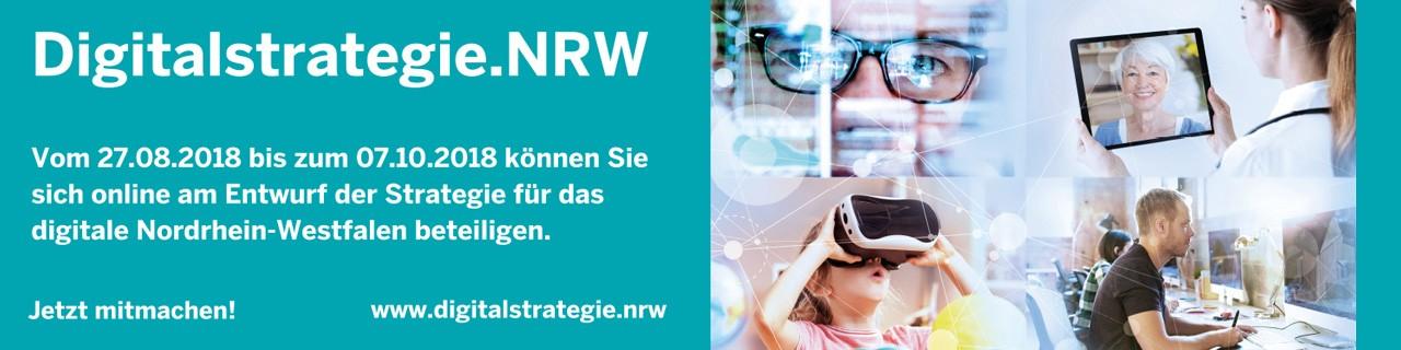 Banner Digitalstrategie.NRW
