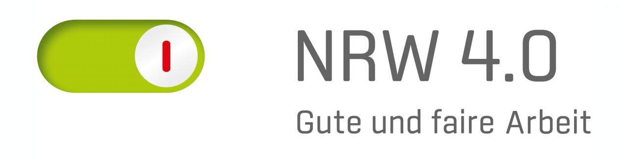 Logo NRW 4.0 gute und faire Arbeit
