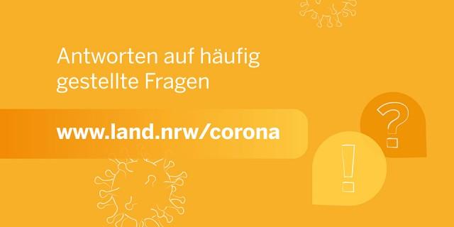 Teaserbild FAQ Corona Land NRW