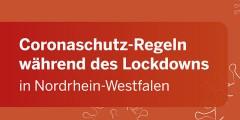 Grafik: Coronaschutz-Regeln während des Lockdowns in Nordrhein-Westfalen