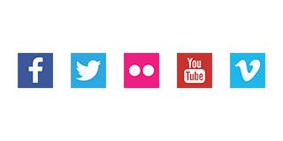 Logos Soziale Medien
