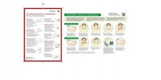 Grafik zeigt zwei Plakatmotive zum Schutz vor dem Coronavirus