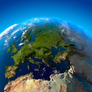 Blick auf Europa aus Satelitenhöhe