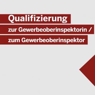 Qualifizierung zur Gewerbeoberinspektorin / zum Gewerbeoberinspektor