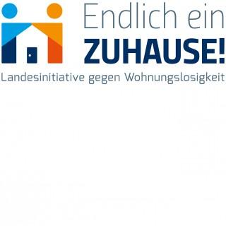 Logo: Landesinitiative gegen Wohnungslosigkeit
