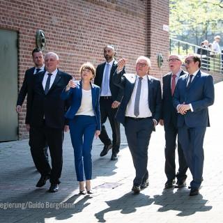 Foto: Minister Laumann im Gespräch mit dem Bundespräsidenten