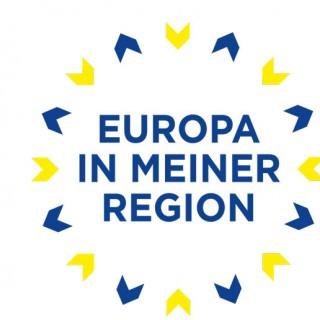 Europa in meiner region - Schriftzug mit Logo