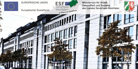 Foto zeigt das Gebäude vom Ministerium für Arbeit, Soziales und Gesundheit des Landes Nordrhein-Westfalen
