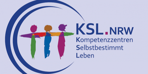 KSL.NRR - Logo mit Grafik drei Figuren