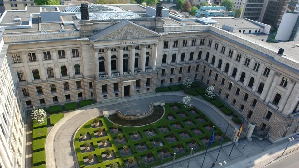 Luftaufnahme des Bundesratsgebäudes