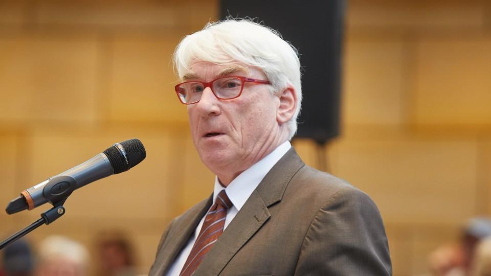 Thomas Oelkers, Vorstand des Diakonischen Werkes Rheinland-Westfalen-Lippe, bei seiner Rede.