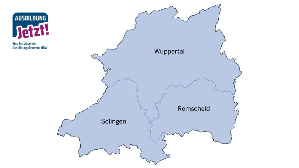 Karte Bergisches Städtedreieck
