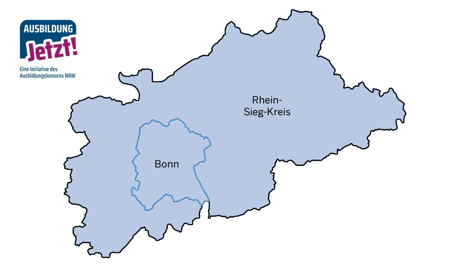 Karte Bonn/Rhein Sieg