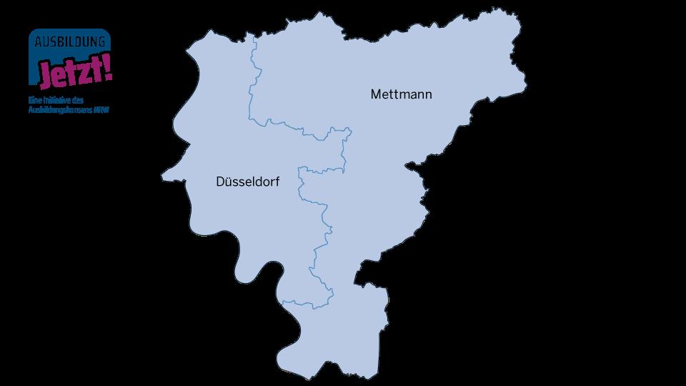 Karte Düsseldorf/Kreis Mettmann