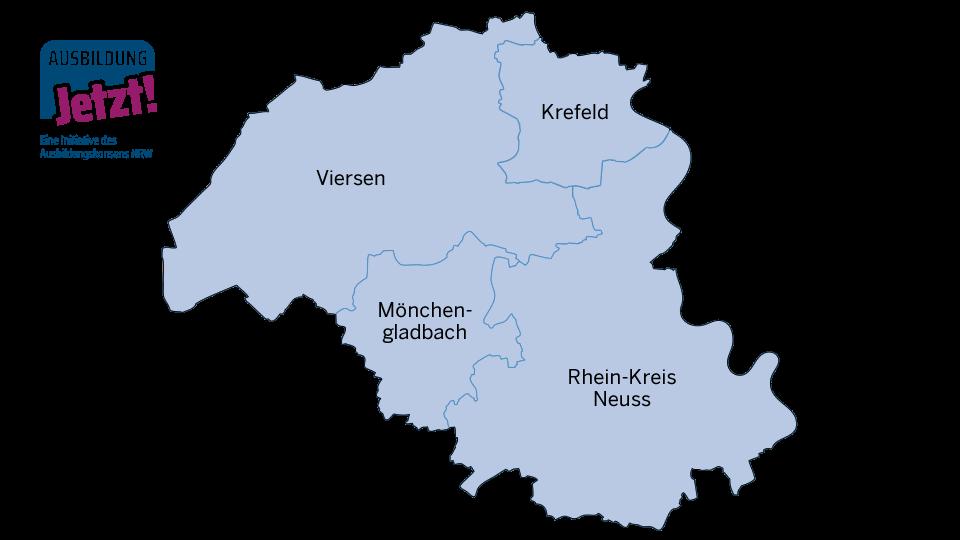 Karte Mittlerer Niederrhein