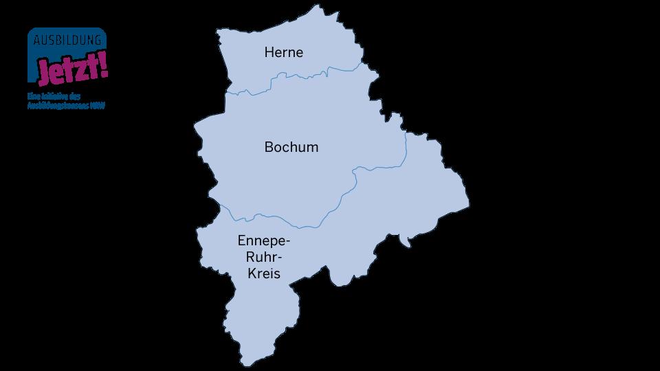 Karte Mittleres Ruhrgebiet