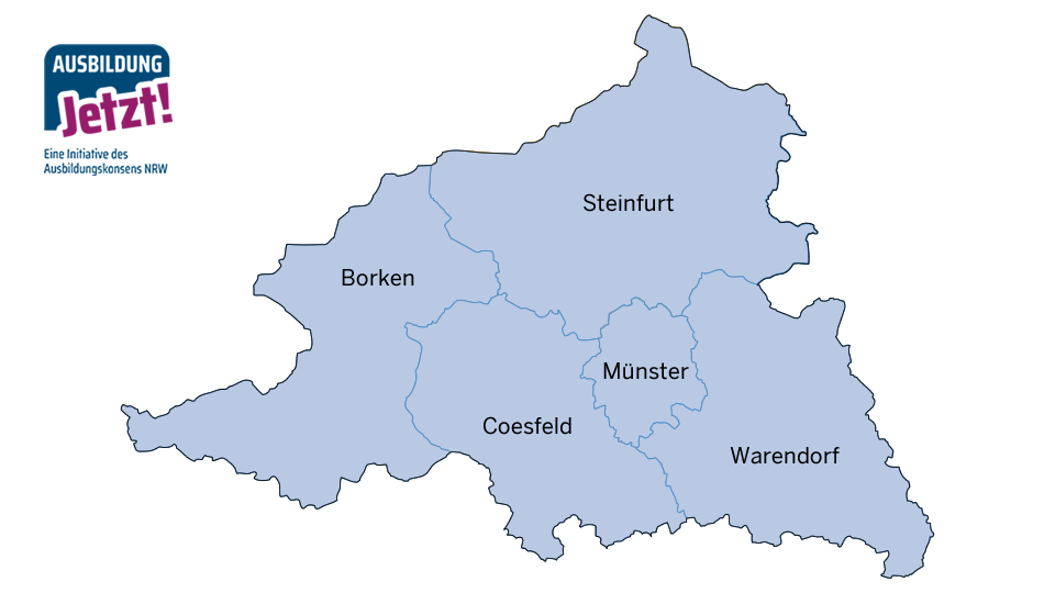 Karte Münsterland