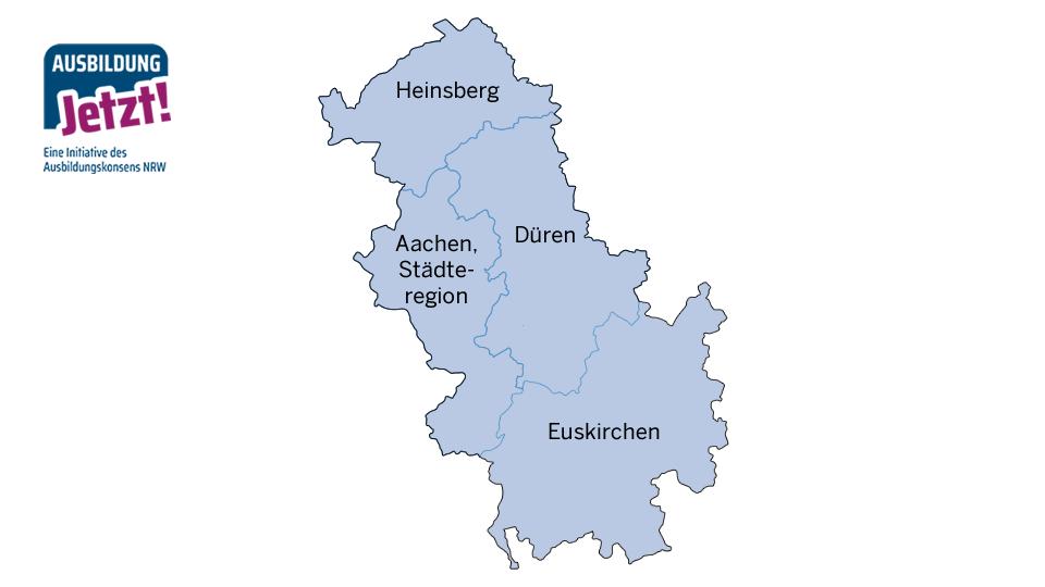 Karte Region Aachen