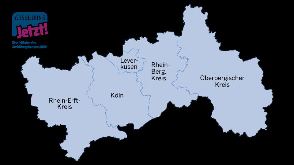 Karte Region Köln