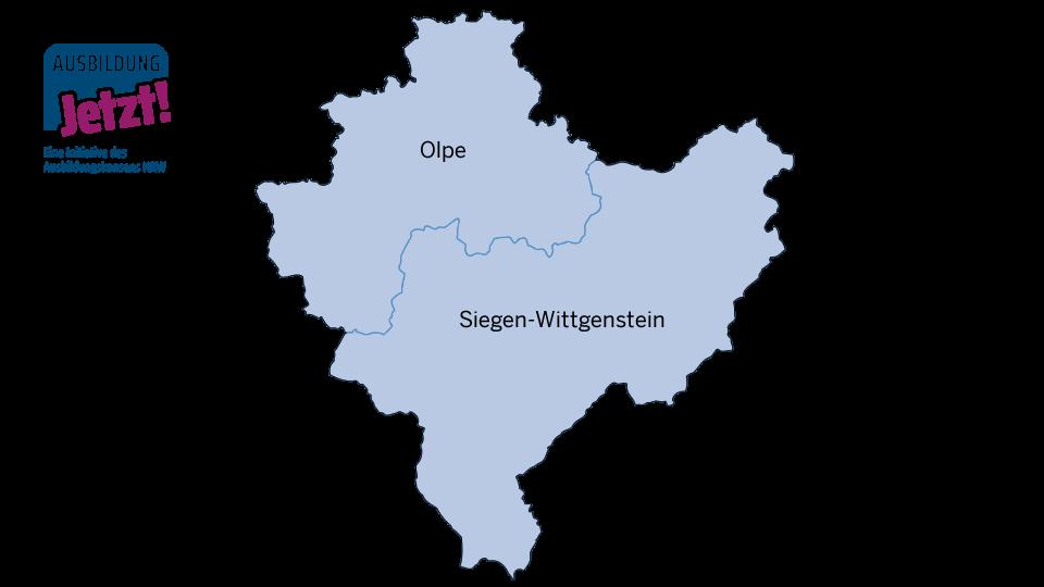Karte Siegen-Wittgenstein/Olpe