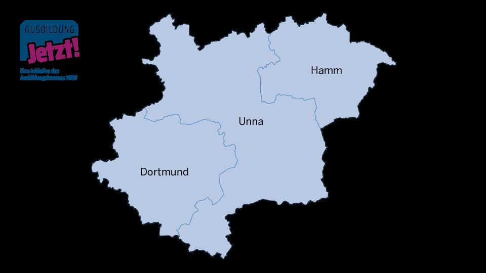 Karte Westfälisches Ruhrgebiet