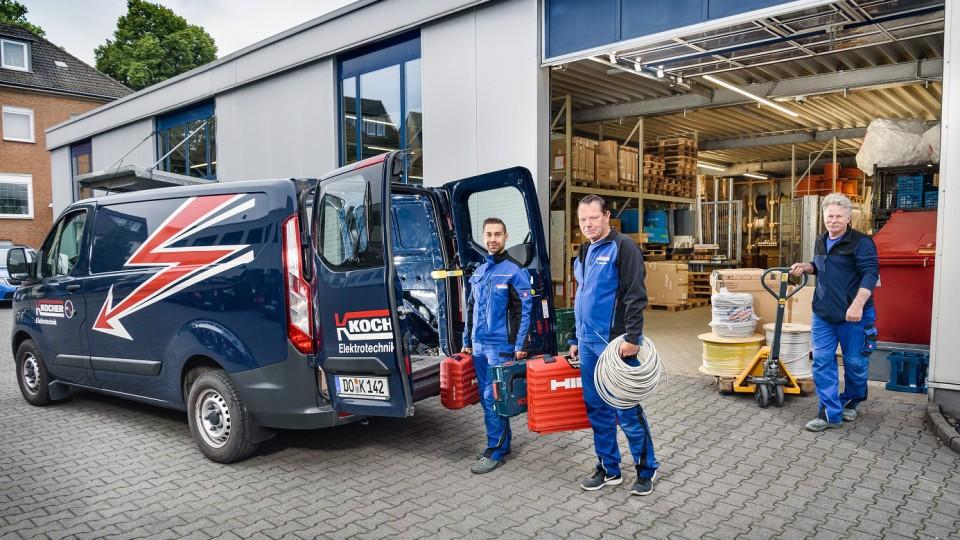 Mitarbeiter der Firma Werner Kocher GmbH & Co. KG