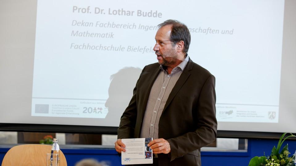 Foto: Prof. Dr. Lothar Budde, Dekan des Fachbereichs Ingenieurwissenschaften und Mathematik an der Fachhochschule Bielefeld