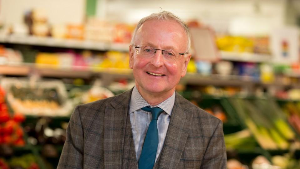Foto: Geschäftsführer des Lebensmittelmarktes Heßler