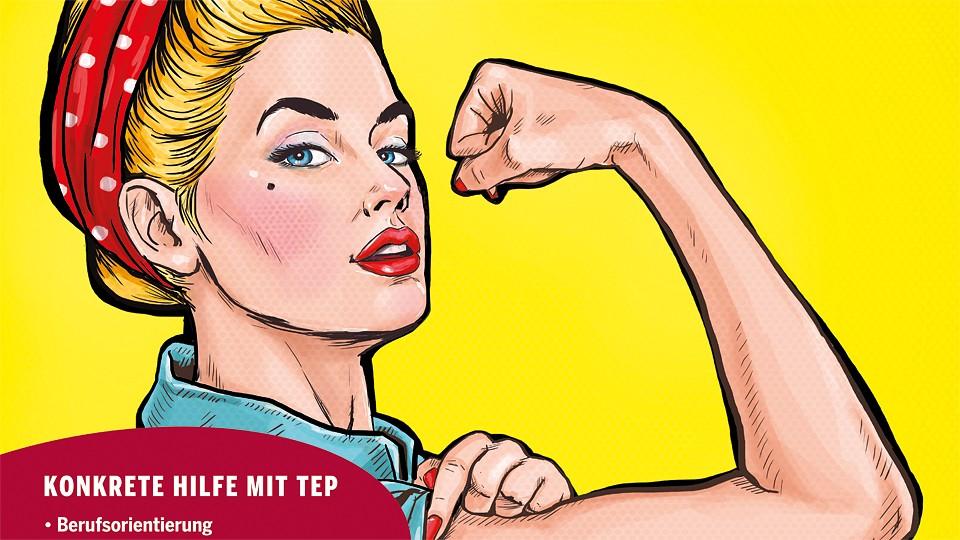 Bild: Motiv des Plakats, das für das Programm TEP wirbt