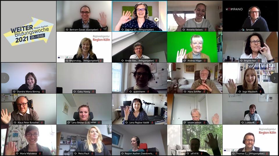 Screenshot: Darstellung von allen Teilnehmenden