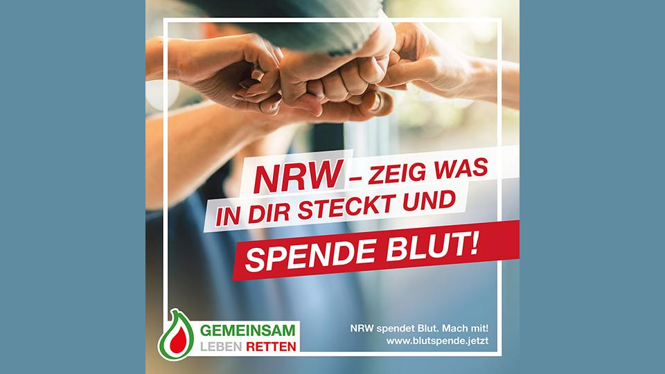Bild zur Kampagne: NRW - Zeig was in Dir steckt und spende Blut