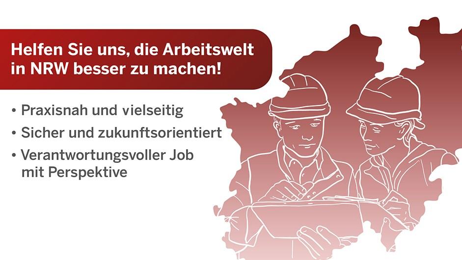 Helfen Sie uns die Arbeitswelt in NRW besser zu machen!