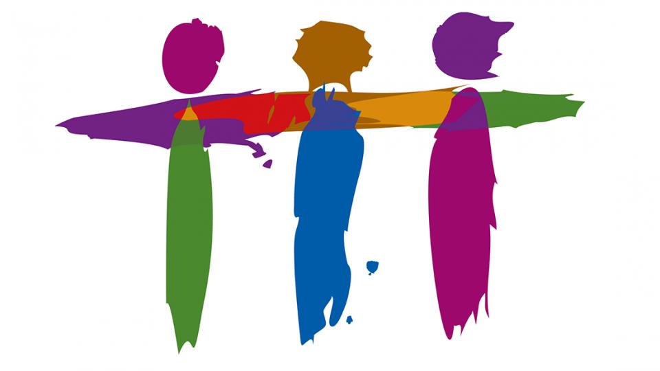 Grafik zeigt stilisierte Menschen