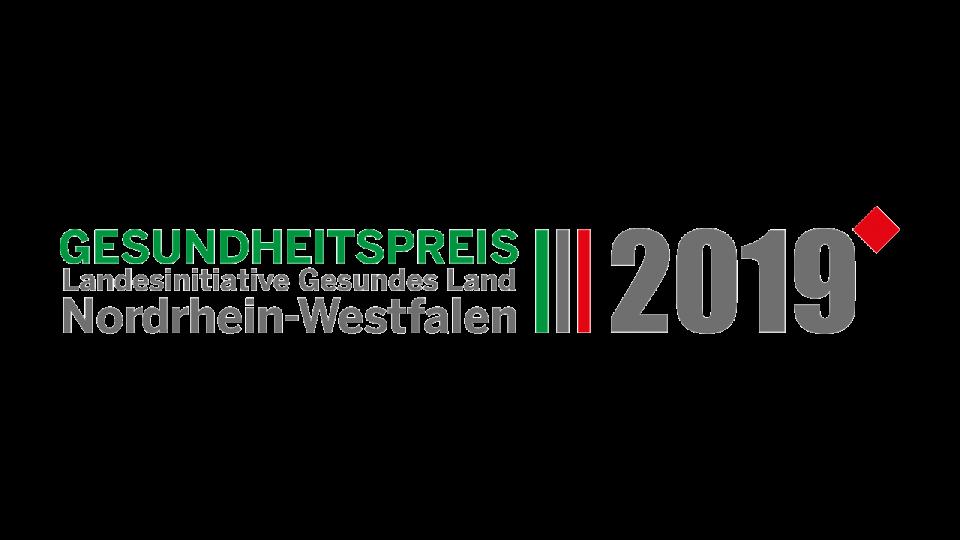 Logo: Gesundheitspreis NRW 2019