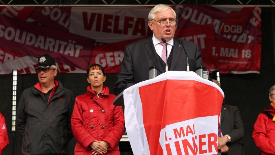 Minister Laumann auf der Kundgebung zum 1. Mai 2018 in Duisburg