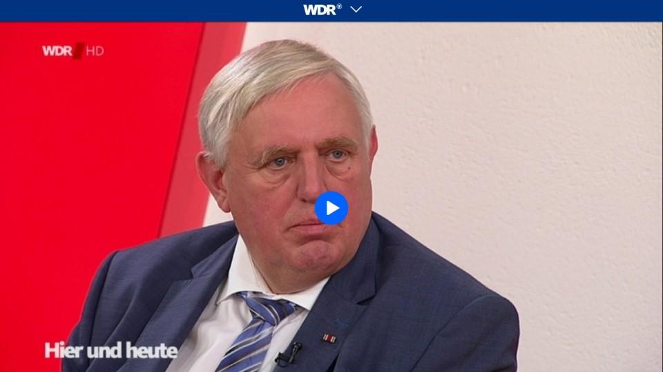 Bildschirmfoto des Videos von Miniter Laumann im Video-Interview bei Hier und Heute
