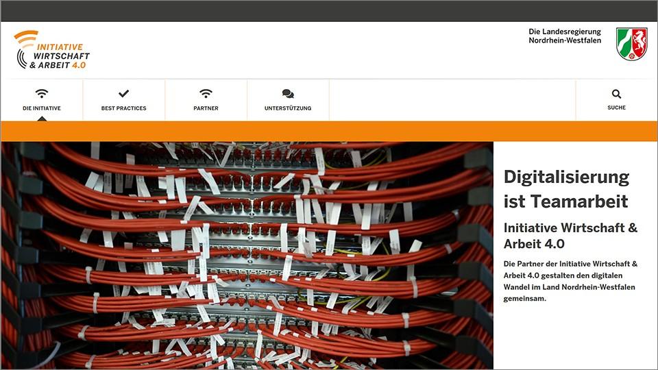 Screenshot der Website www.iwa.nrw.de
