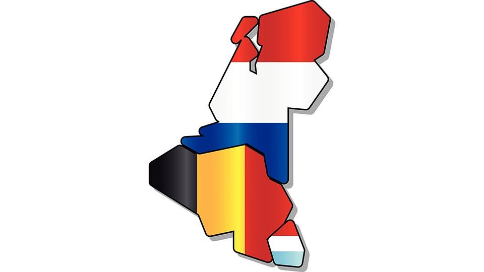 Das Bild zeigt die Fahne der Beneluxunion