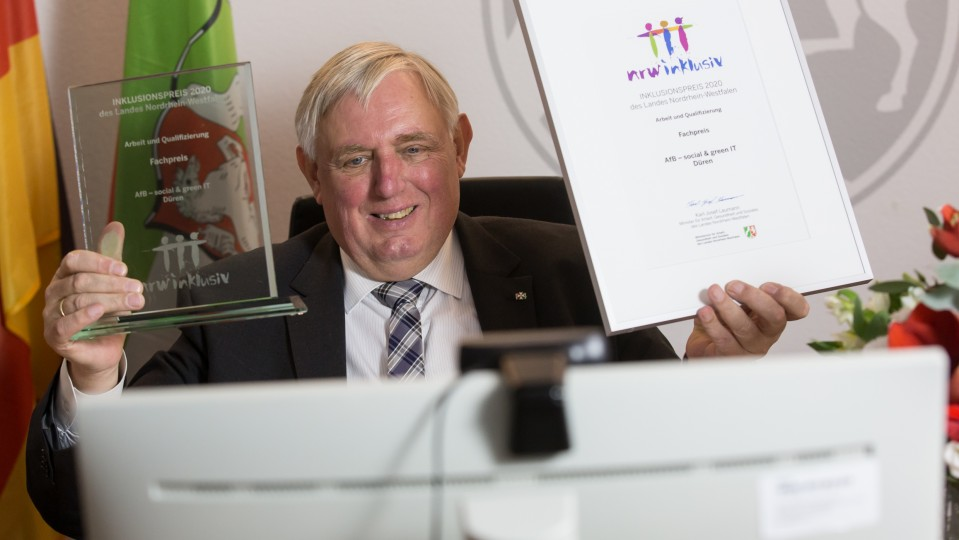 Verleihung des Inklusionspreises 2020