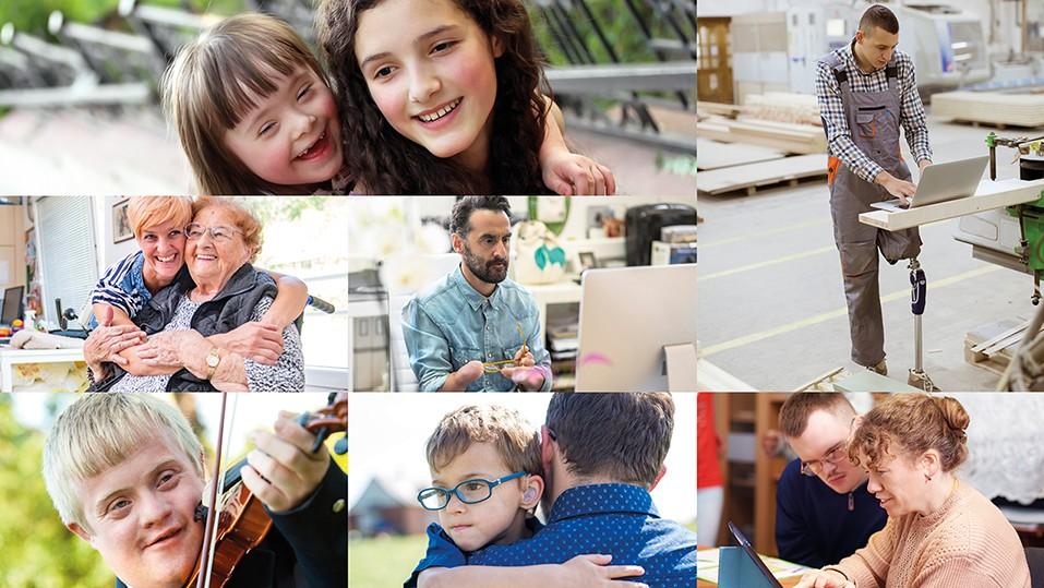 Bild zeigt das Titelmotiv vom Teilhabebericht NRW 2020